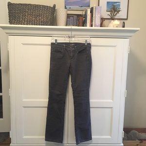 Loft gray corduroy pants 25/0 P